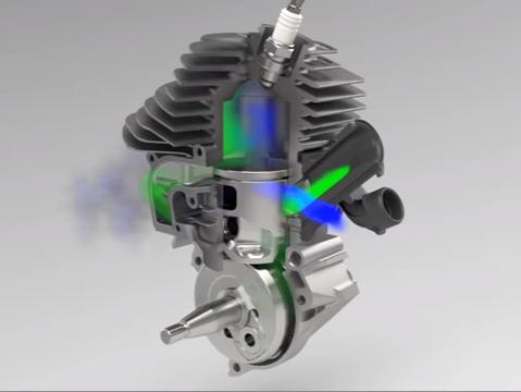 Двухтактный автомодельный двигатель os max 21xr-b с слайдовым карбюратором 22b