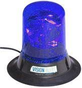 maják rotační, magnetický, 12V, modrý