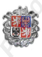 odznak na čepici stříbrný