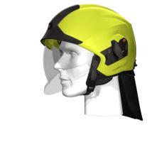 přilba HEROS TITAN Rosenbauer signální žlutá luminiscenční, čirý štít