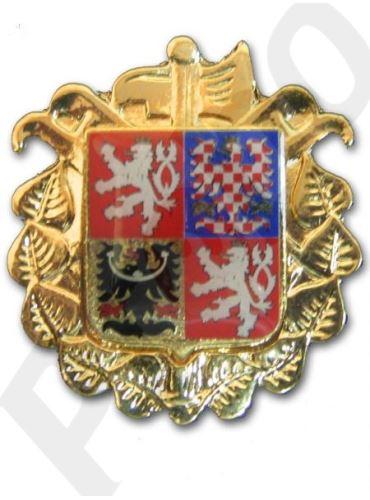 odznak na čepici zlatý