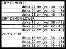 zip obuvi DEMON