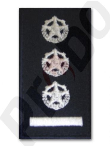 hodnostní značení - velitel jednotky